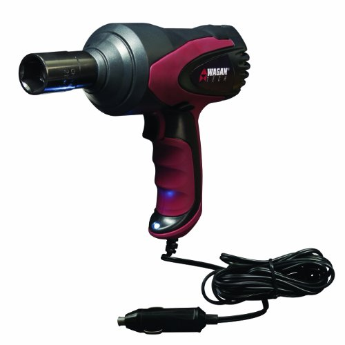 Wagan EL2257 12V DC Mighty Impact Wrench, 1/2 inch 12 Volt Electric Impact Wrench Kit, 271 ft-lbs, Tire Repair Tools with Sockets and Carry Case