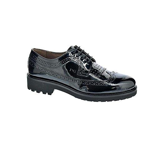 Con 6024 Mujer Giardini Nero Cordón Zapatos wqt6n06x85