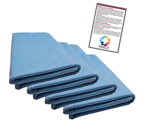 nderpad with 4-Layer Protection (4 Pack) + Vakly Incontinence Guide ()