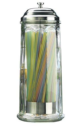straw holder dispenser glass - 1