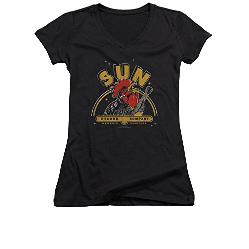 Sun Records Rocking Rooster Junior V-neck T-shirt 2xl -