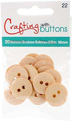 5/8 Inch Light Cream (Small Color Buttons 20/Pkg-Cream 5/8