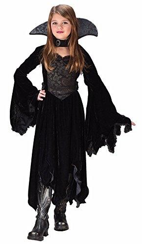 [Morris Costumes Velvet Vamp Child Small 4-6] (Countess Of Darkness Child Halloween Costume)
