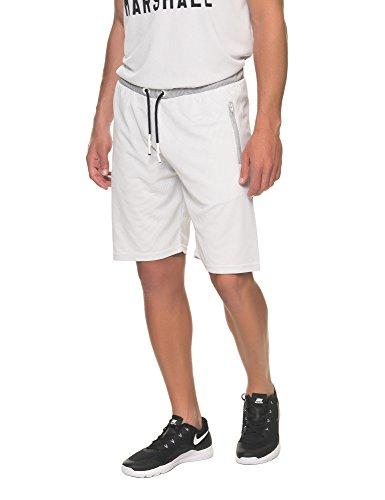Franklin & Marshall Men's Men's Sport Shorts In White in Size L White by Franklin & Marshall