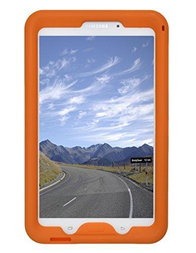 Bobj Rugged Case for Samsung Galaxy Tab 4 8-inch Tablet SM-T330, SM-T331, SM-T335, SM-T337, SM-T337A Other SM-T33 (Not for Tab A 8) - BobjGear Sound Amplification - Kid Friendly (Outrageous Orange)