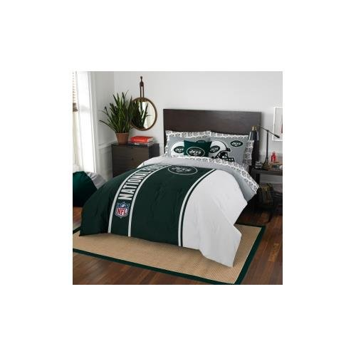 NFL New York Jets Soft & Cozy 7-Piece Full Size Bed in a Bag Set by Northwest