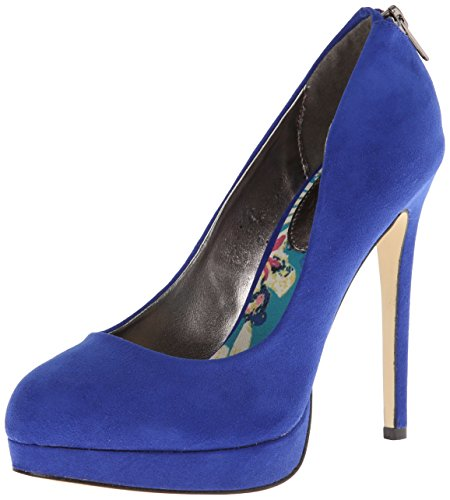 Pompe Madden Girl Platform Heattt Blue Fabric ngE0R