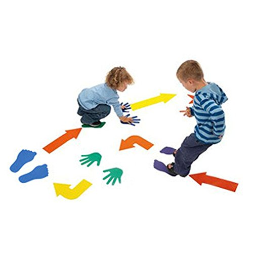Floor Game Class Fun Twister Active Play Family Game with 12 EVA Hands,12 Feet,12 Arrows by OUBEI