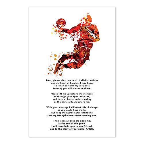 Basketball Prayer Poster - Christian Athlete Gift -