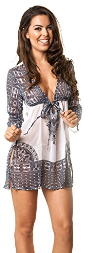 COQUETA SWIMWEAR Sexy Dress Beachwear Pareo Resort Wear Beach Cover up AZUL