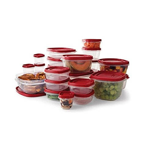 Rubbermaid Easy Find Lids Food Storage Containers, Racer Red, 50-Piece Set B002RSO2PW