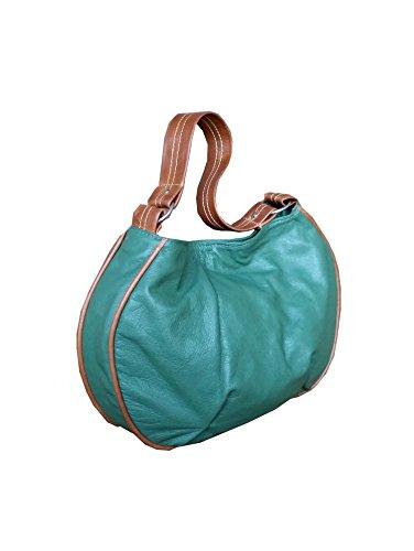 Fgalaze Green Leather Bag - Hobo Purse - Slouchy Bag - Sh...