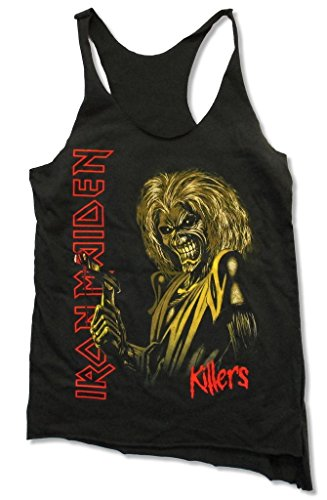 Iron Maiden Killers Juniors Blackheart Raw Edge Tank Top Shirt (XL)