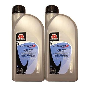 2 x 1L Millers totalmente sintético kr2t cia-fia aprobado Rotax aceite: Amazon.es: Coche y moto
