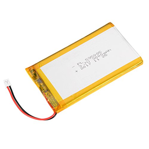 (uxcell Power Supply DC 3.7V 3000mAh 595085 Li-ion Rechargeable Lithium Polymer Li-Po Battery)