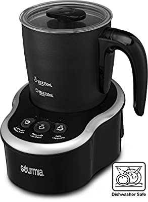 Gourmia GMF235 Cordless Electric Milk Frother & Heater, 3 Touch Button Control for Hot / Cold Extra Foamy Froth or Heating Milk, Magnetic Whip, Dishwasher Safe from Gourmia