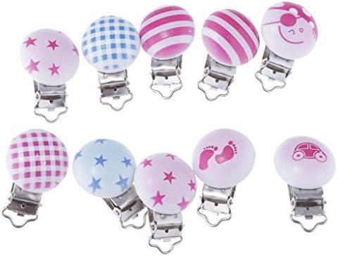 bande Homyl Kit de 10pcs Attache T/étine Baby Sucettes Accroche T/étine