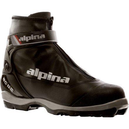 (Alpina Mens BC 50 Backcountry Touring Ski Boots, Black, 13 1/2 US)