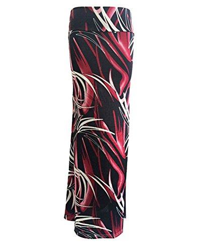 Haute Longue Plage 2 Femme Jupe Taille Crayon Bohmienne Imprim vnYRnF