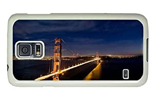 Hipster underwater Samsung Galaxy S5 Cases san francisco brigde night lights PC White for Samsung S5