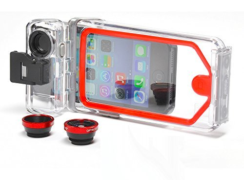 Optirx PhotoX Waterproof Housing with Macro and Flat Lens for Apple iPhone 5 / 5s