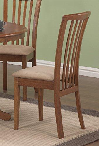 Slat Chair Back Oak (Coaster Home Furnishings Dining Chair in Oak - Set of 2)