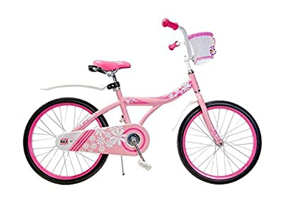 "Ryda Bikes Petal - 20"" Pink Little Girls Kids Bike with Basket and Flat Proof Tires"