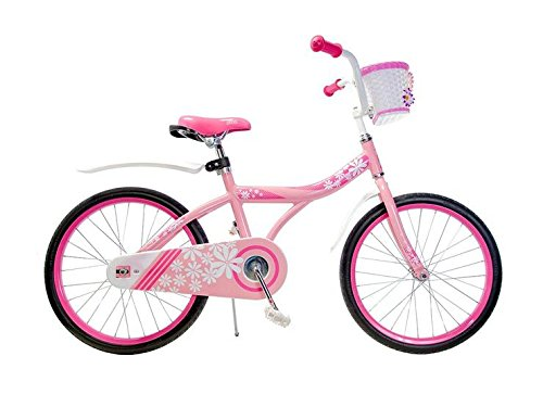 "Ryda Bikes Petal - 20"" Pink Little Girls Kids Bike with Basket and Airless Bike Tires"