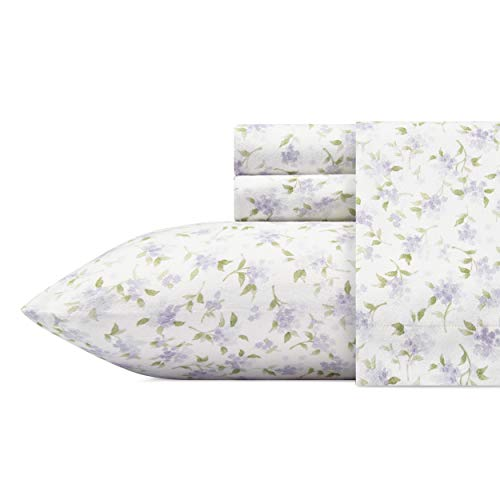 Laura Ashley Virginia Sheet Set, Queen, Purple