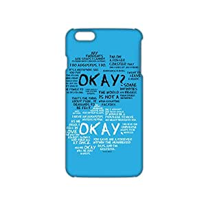 Ultra Thin 3D Case Cover The Fault in Our Stars Quotes Phone Case for iPhone6