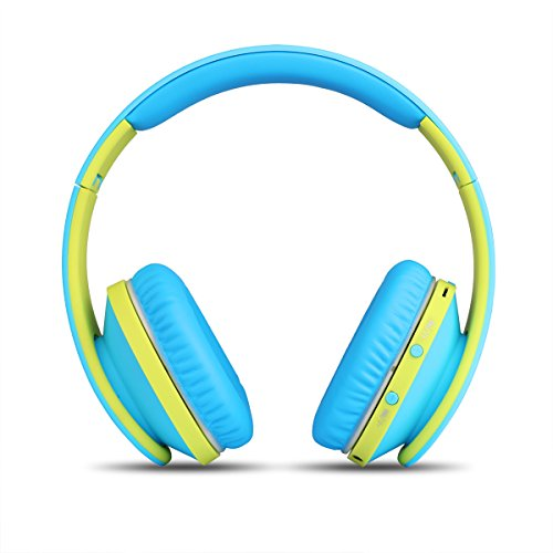 JBU Bluetooth Headphones JBT-900 Foldable Bluetooth 4.0 Wireless Headphones with Microphones Passive Noise Isolation Headset for Travel, Work, Sport ,TV, Sports,Mega Bass 10 Hours Play Time (Blue)