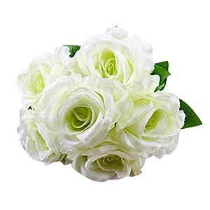 Mandy 1 Bouquet Vintage Artificial Rose Silk Flowers Bouquet for Decoration 45