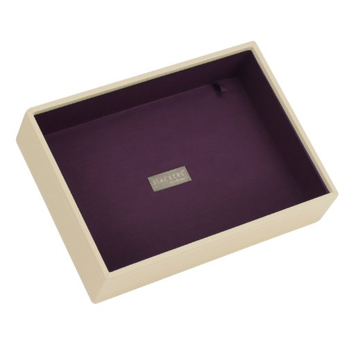 Stackers Cream & Purple Classic Deep Open Section Jewelry Box