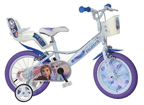 Dino Bikes 146RL-FZGB 14-inch bevroren fiets Disney Kids, blauw