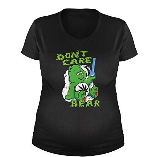 Maternity Don't Care Bear with Bong T-Shirt XXL Black (Bong Bear Don T Care T Shirt)