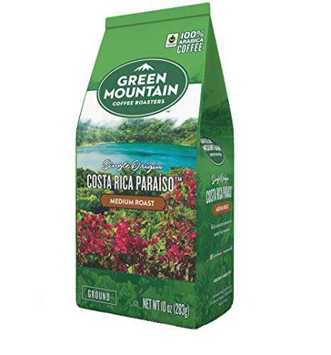 - Green Mountain Coffee Roasters Costa Rica Paraiso ground coffee, 10 ounce bag (Pack of 1)