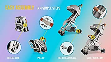 Cobabies Pushchair Stroller Pram Foldable Lightweight FREE Net and Travel Cover