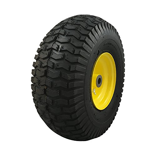 MARASTAR 15x6.00-6 Front Tire Assembly Replacement for John Deere Riding Mowers - Turf Saver - John Front Deere