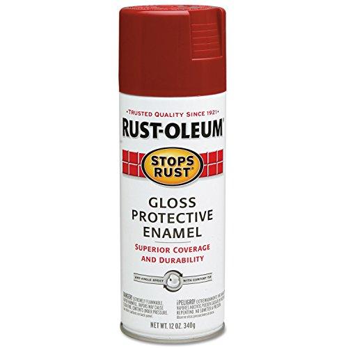 (Rust-Oleum 7765 Stops Rust Protective Enamel Sprays, Gloss, 12 oz. Aerosol Can, Regal Red (Pack of 6))