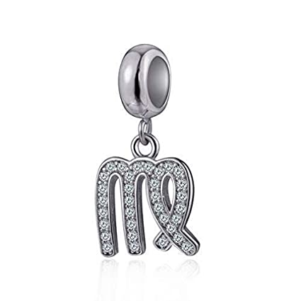 0259702a0 Virgo Zodiac Sign Charms for Pandora Charm Bracelets - 925 Sterling Silver  Necklace Pendants, 12