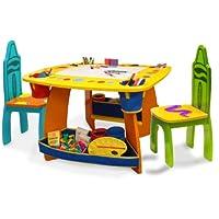 Juego de mesa y silla de madera Crayola