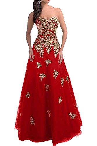 Rock Abiballkleider La Rot Quincenera Romantisch Linie Langes Marie Ballkleider Abendkleider A Prinzess Braut x0xR1Pgw
