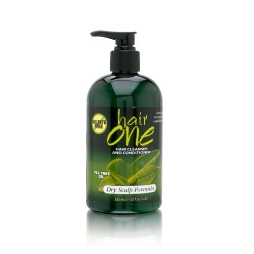 Hair One Hair Cleanser and Conditioner for Dry Scalp (w/ Tea Tree Oil),355ml/12oz