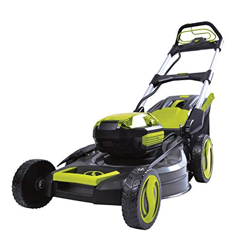 Sun Joe iON100V-21LM-CT 21 in. 100V Max Lithium-iON Cordless Self Propelled Lawn Mower, Core Tool (Battery + Charger Sold Separately)