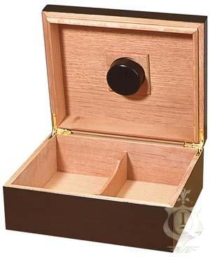 Quality Importers Capri 25-50 Cigar Humidor, Mahogany