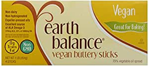 Earth Balance, Buttery Sticks, 79% Vegetable Oil Spread, 4 Count