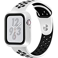 JP-DPP9 for Apple Watch Series 4 44mm Watchband,Sport Loop Band Soft Silicone Sport Wrist Strap Replacement Bracelet Wristbands for Apple iWatch