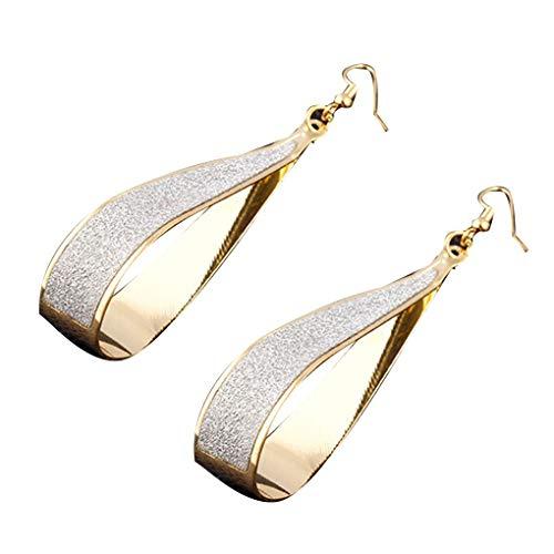 - Women Water Drop Pendant Earrings Girls Alloy Plating Eardrops Matte Ear Hook Jewelry Gifts