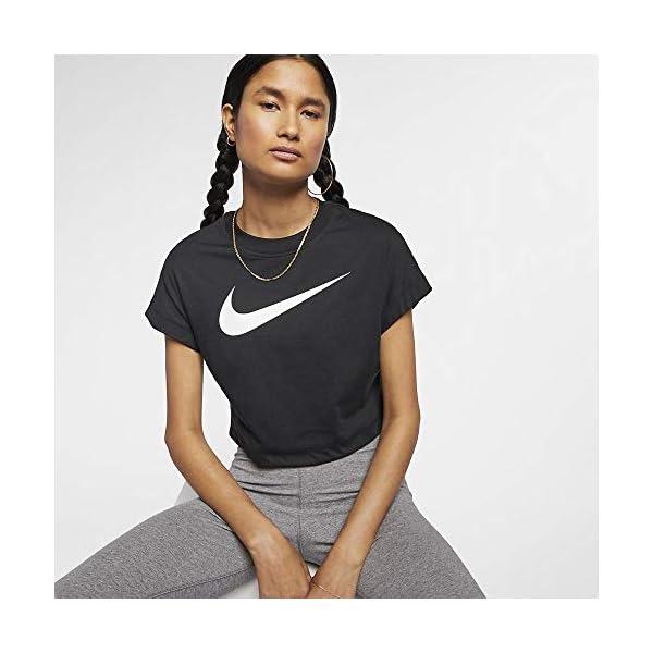 Nike W NSW Swsh Top Crop SS, Maglietta Donna