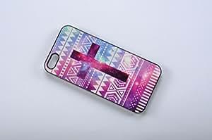 FBA 3 regalo de Navidad - case por iPhone 5 / 5s Geometric cross negro funda